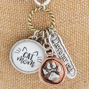 ONE BLESSED NANA Jewelry - NWT *BOUTIQUE*  CAT MOM     LONG NECKLACE.